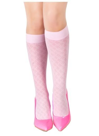 Pierre Cardin 4'Lü Desenli Dizaltı Çorap Lila